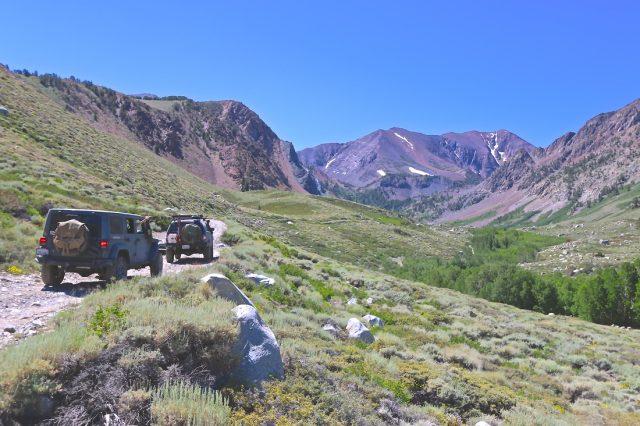 Jeep and Tacoma nearing Laurel Lakes