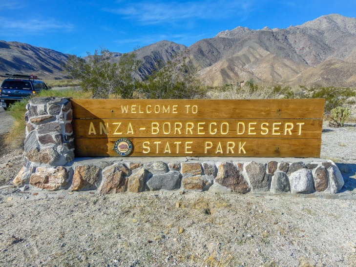 Anza Borrego State Park Sign