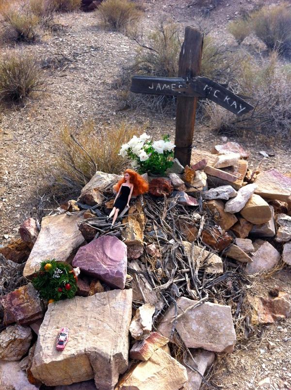 Death Valley dreams dashed: the grave of miner James MacKay