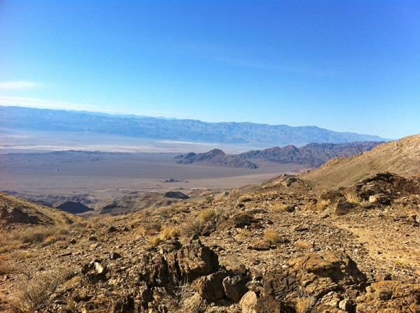 Looking southwest from Death Valley towards the Amargosa mountains