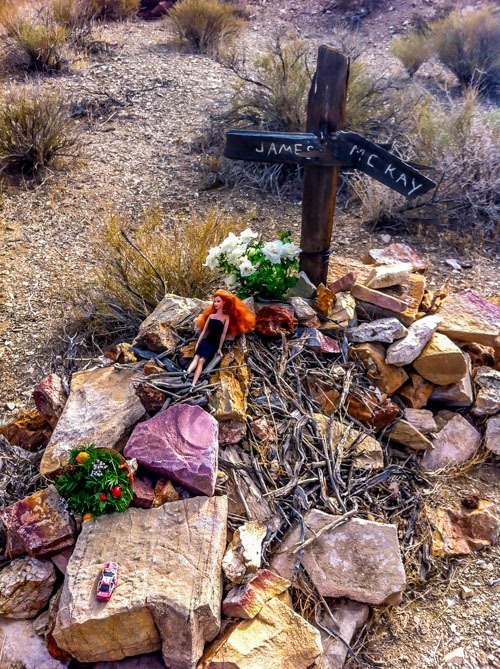 Death Valley Chloride City Trail-Grave James McCay