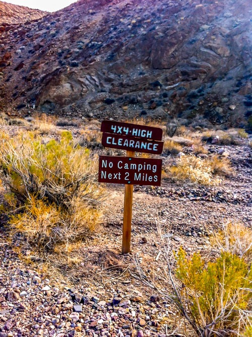 Death Valley-Chloride City Trail Marker