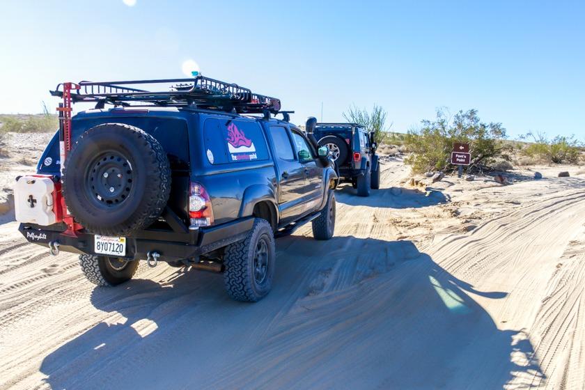 The Adventure Portal team entering Font's Point-Anza Borrego State Park