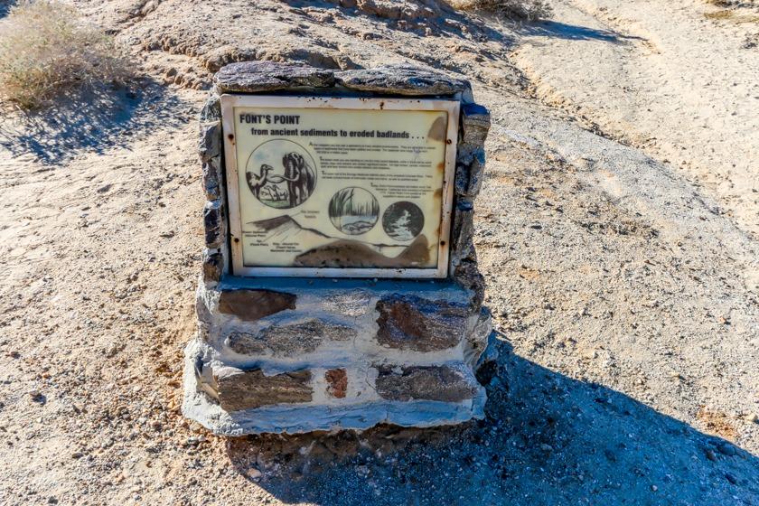 Font's Point information marker-Anza Borrego State Park