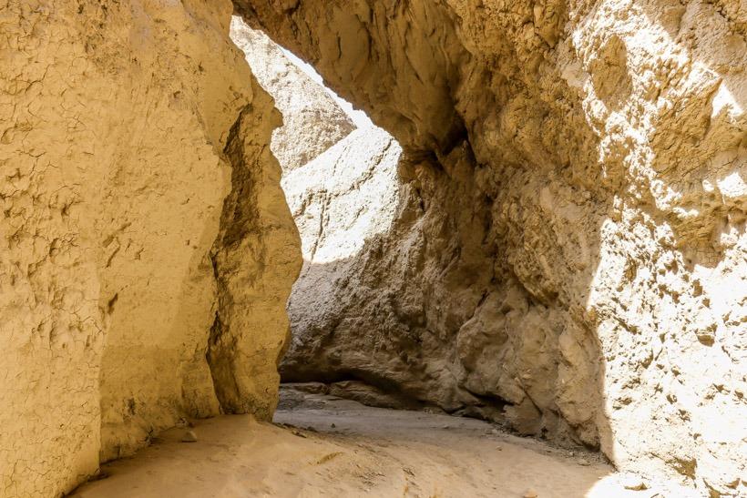 Entering Anza Borrego Mud Caves