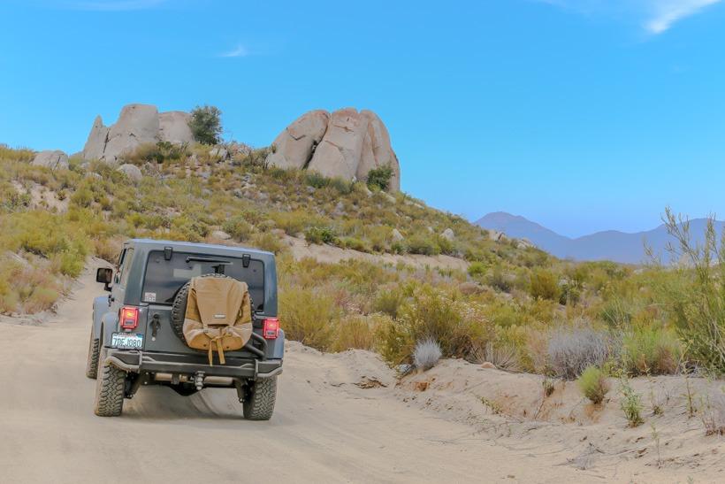 Southern end of Los Pinyos Trail