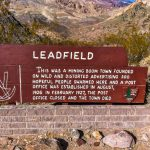Leadfield Town Marker Titus Canyon Trail
