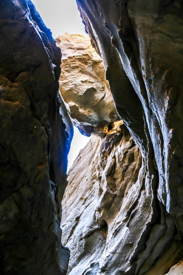 Slot Canyon Anza Borrego Looking up