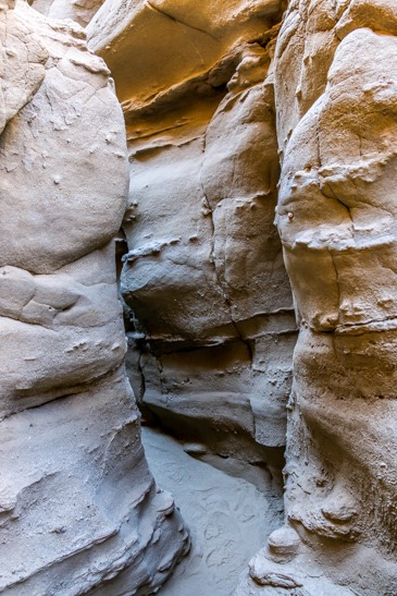 Anza Borrego slot canyon rock formations