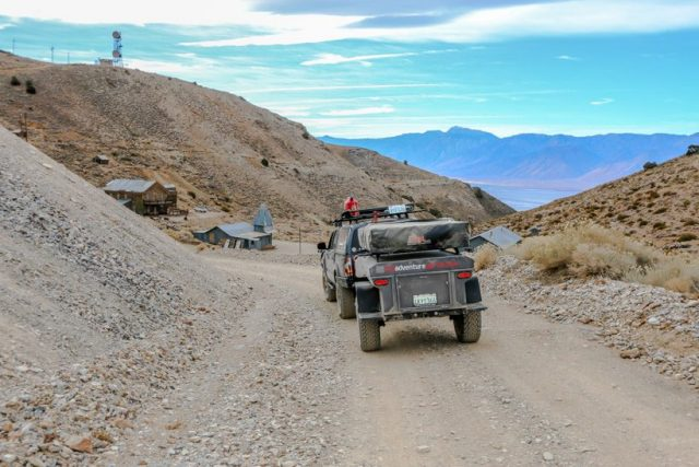 Death Valley-Entering Cerro Gordo town from East