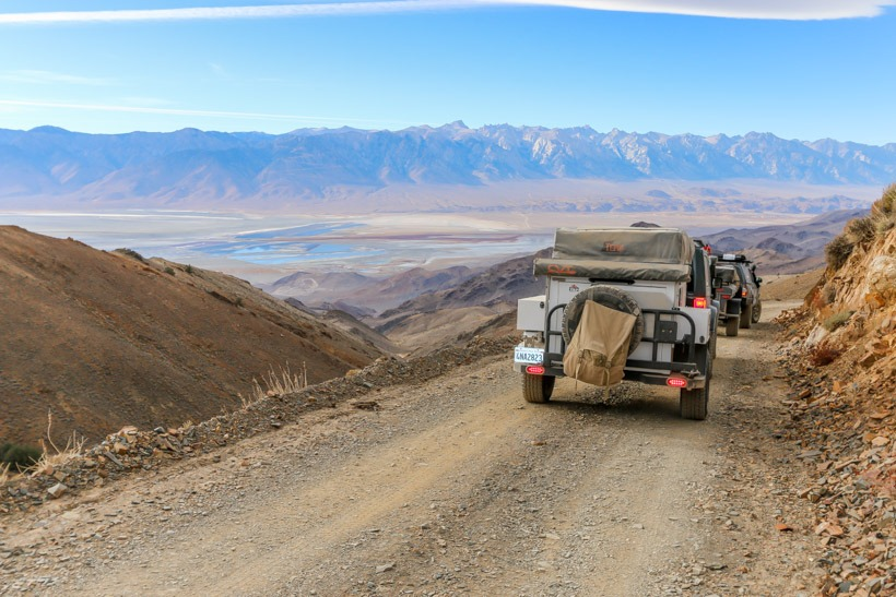 Death Valley Cerro Gordo Road Descending west side