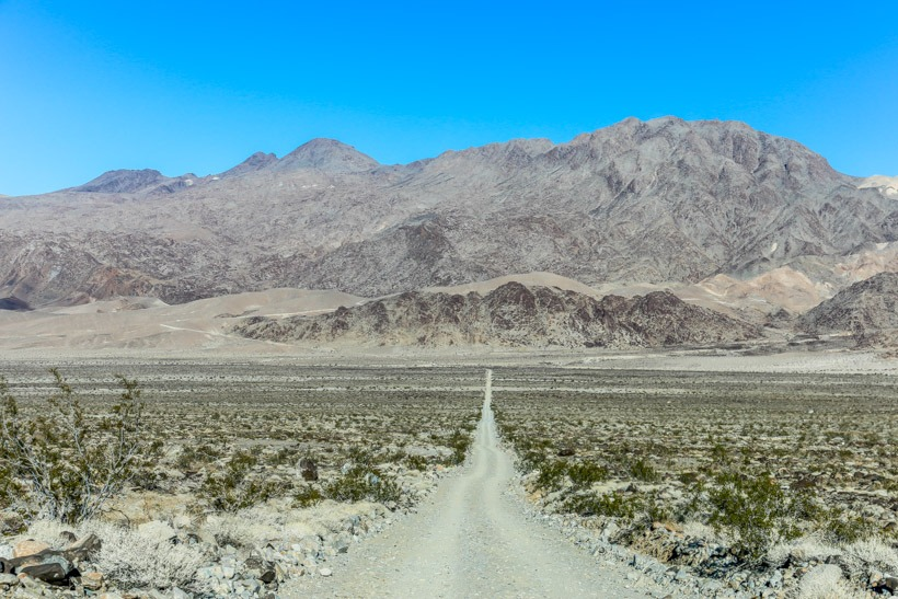 Death Valley-Looking toward Lippincott from Saline Valley Road