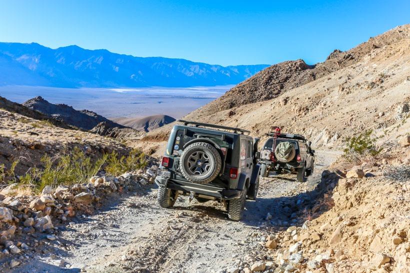 Death Valley-TAP crew Heading down Lippencott Mine Road