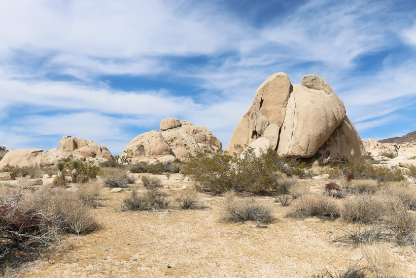 Joshua Tree National Forest: Boulder formations on Geology Tour Road