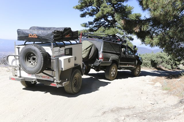 the adventure portal at Thomas Mountain with turtleback trailer