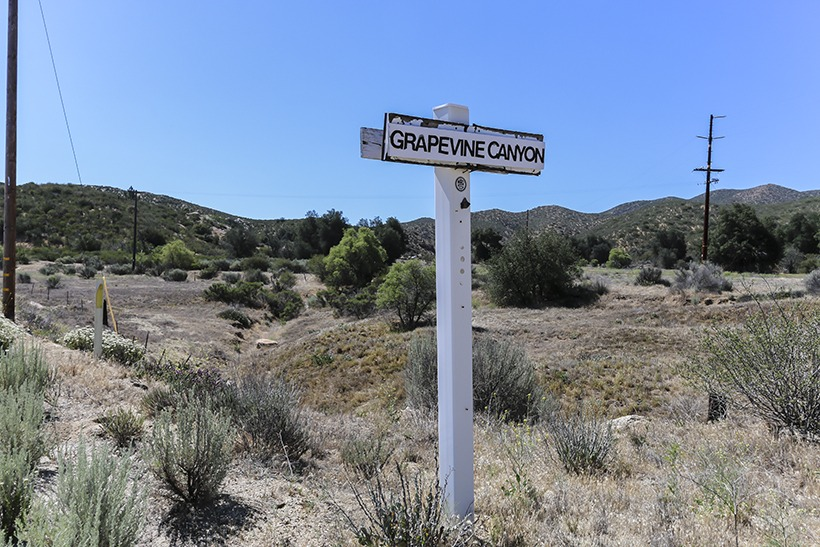 NW Trailhead Marker Grapevine Canyon Trail