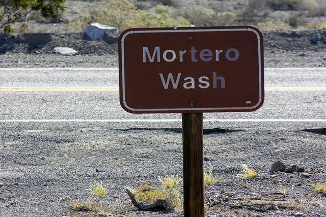 Mortero wash sign-Anza Borrego State Park