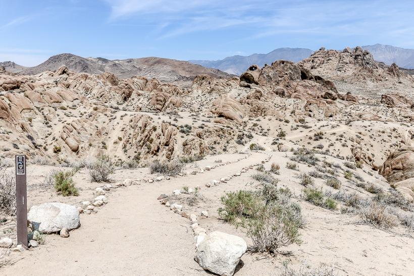 Hike to boulders area