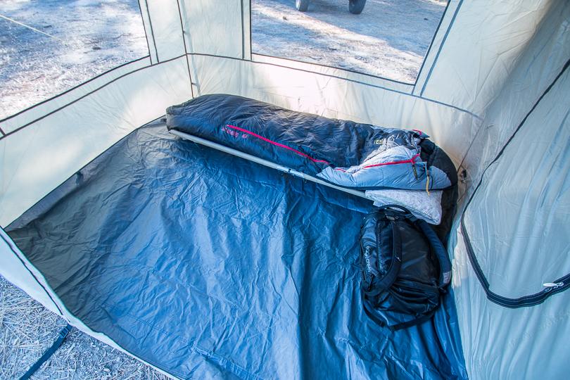 ARB tent room internal view