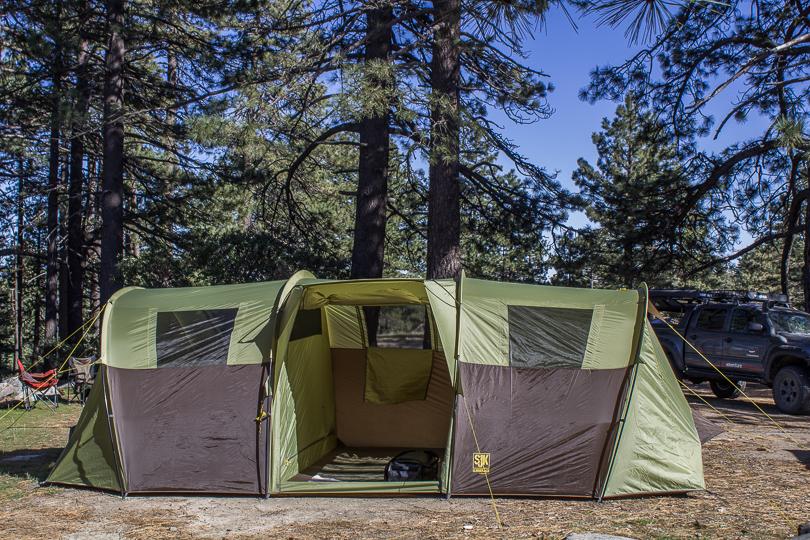 Slumberjack 10 tent side view