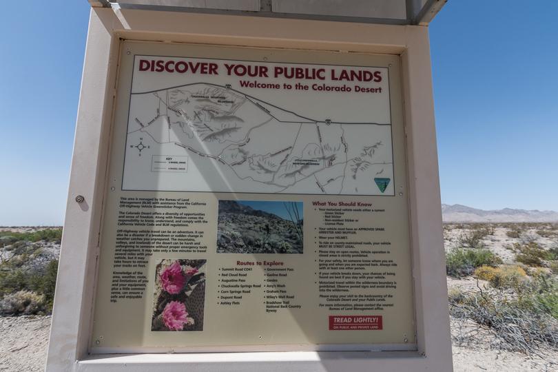 Bradshaw Trail info map