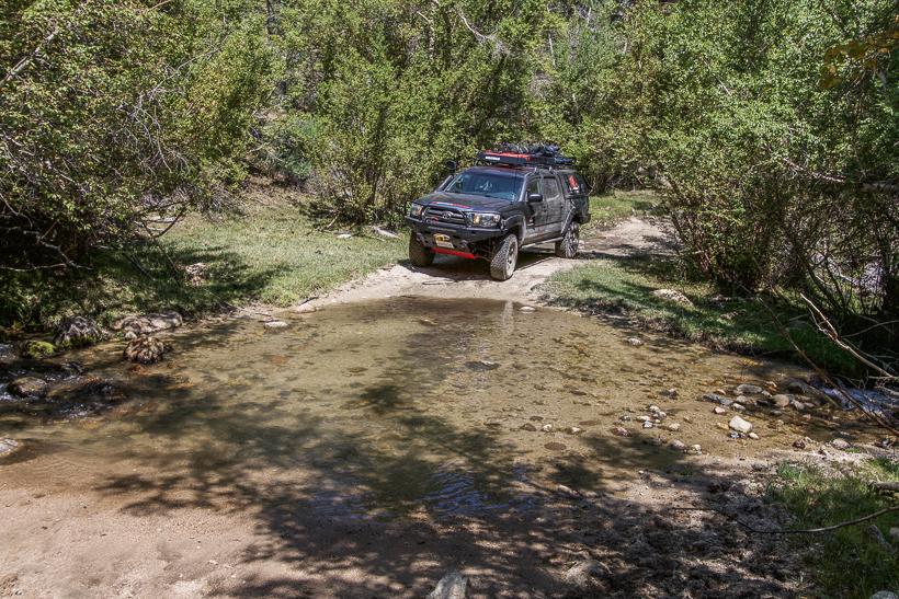 Stream crossing on the Buttermilk Trail sierra
