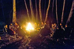 Campfire along the lost coast