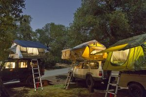 Evening camp at Blue Jay Campground in Cleveland National Forest.