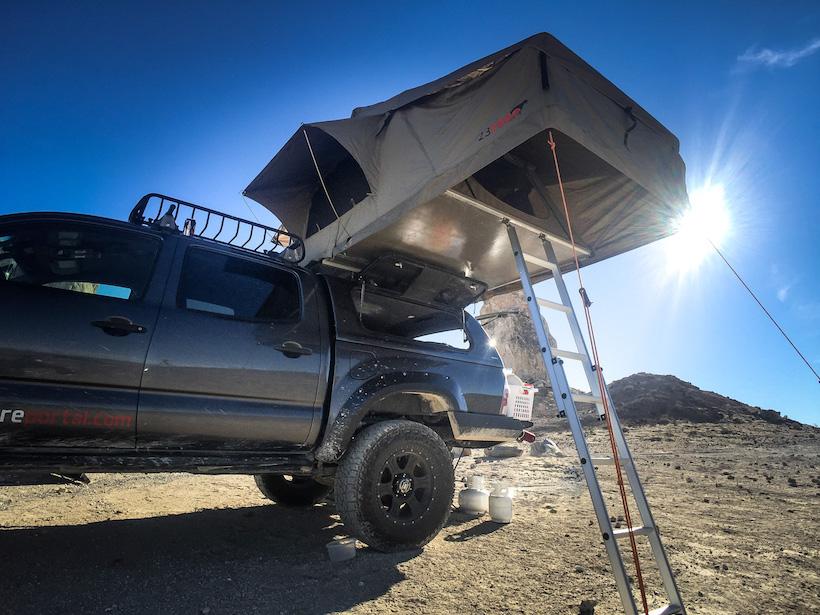 23zero Roof top tent at Trona Pinnacles
