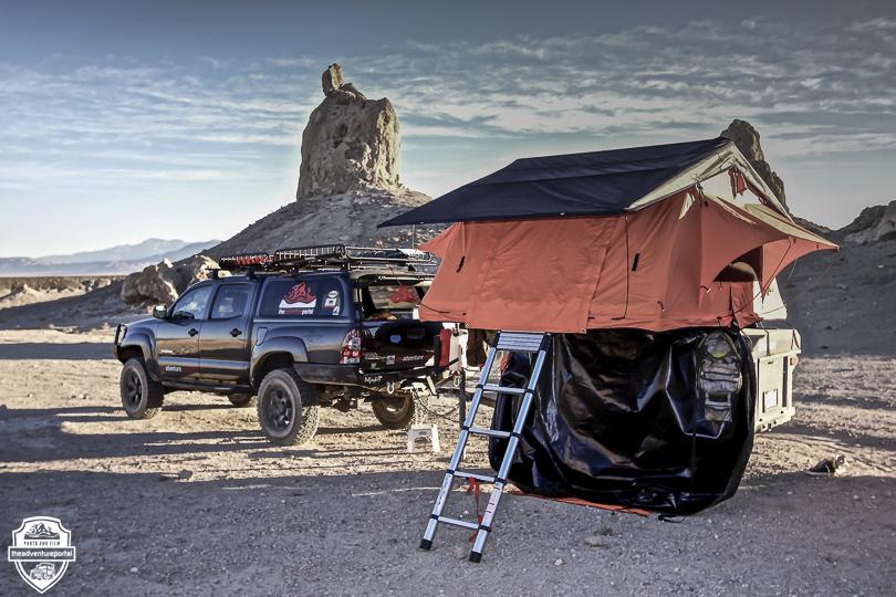 Tepui roof top tent Trona Pinnacles