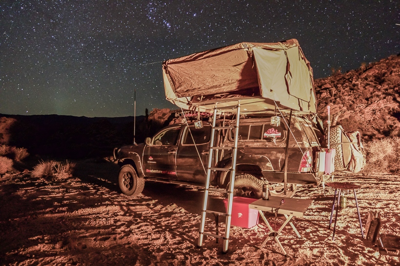 Roof top tent- Mojave Road
